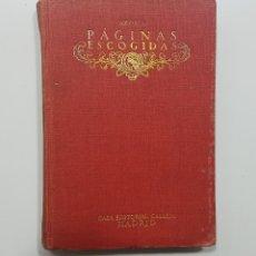 Libros antiguos: PAGINAS ESCOGIDAS, AZORÍN. CASA EDITORIAL CALLEJA. MADRID, 1917. Lote 192839466