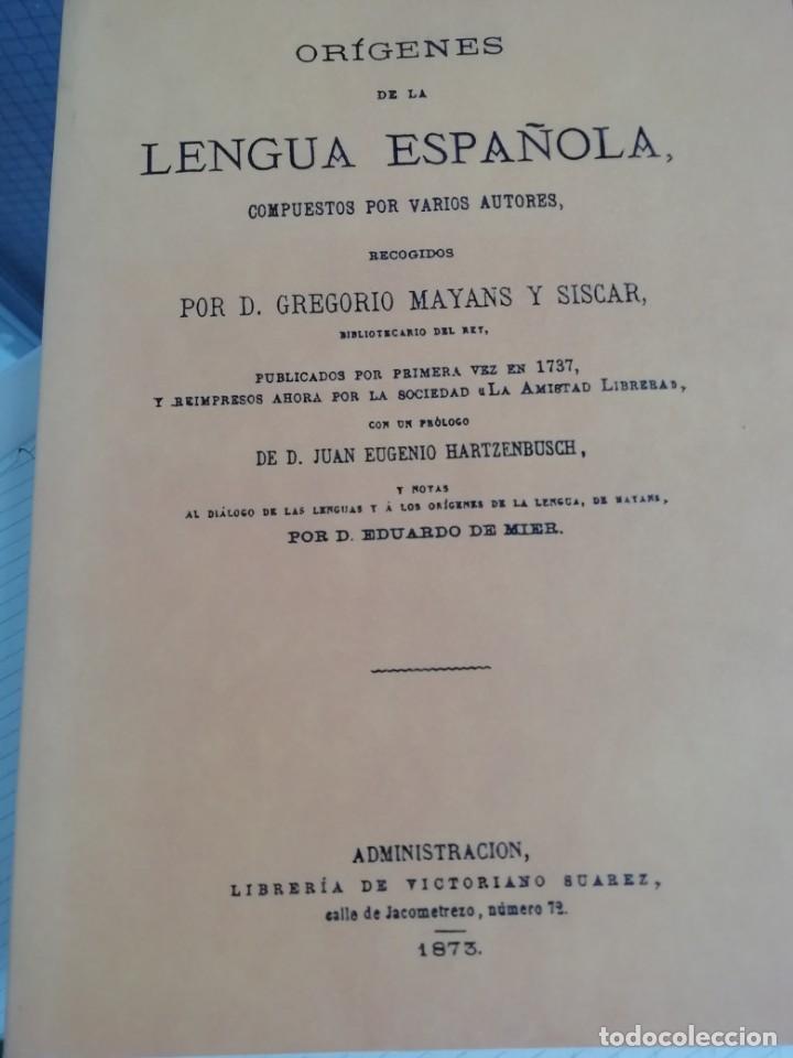 ORÍGENES DE LA LENGUA ESPAÑOLA (Libros antiguos (hasta 1936), raros y curiosos - Literatura - Ensayo)