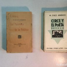 Libros antiguos: M.CIGES APARICIO: DEL PERIÓDICO Y DE LA POLÍTICA (1907), CIRCE Y EL POETA (DEDICADO) (2 LIBROS). Lote 97527883