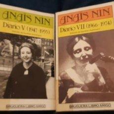 Libros antiguos: LOTE 2 LIBRO AMIGO BRUGUERA ANAIS NIN DIARIO VII V . Lote 194890087