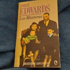 Libros antiguos: LIBRO AMIGO BRUGUERA JORGE EDWARDS LAS MÁSCARAS . Lote 194890546