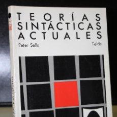 Libros antiguos: TEORÍAS SINTÁCTICAS ACTUALES.(GB, GPSG, LFG). Lote 195081081