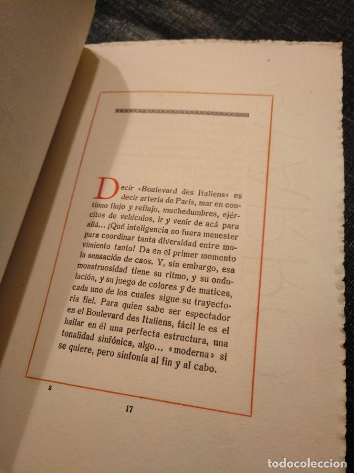 Libros antiguos: VARIACIONES SOBRE UN VIAJE A PARIS (1924) - CARLOS MARISTANY - Foto 3 - 195127671