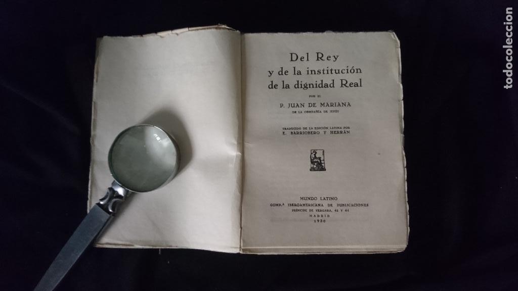 Libros antiguos: DEL REY Y LA DIGNIDAD REAL - Foto 2 - 195173670