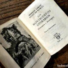 Libros antiguos: CRISOLIN N° 1 AGUILAR IMPECABLE LOS MOVIMIENTOS LITERARIOS SAINZ DE ROBLES . Lote 195481188