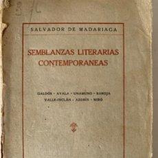 Libros antiguos: SEMBLANZAS LITERARIAS CONTEMPORÁNEAS . Lote 195844943