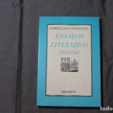 Libros antiguos: ENSAYOS LITERARIOS. ROBERT LOUIS STEVENSON. HIPERIÓN. Lote 196085832