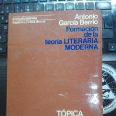 Libri antichi: FORMACIÓN DE LA TEORÍA LITERARIA MODERNA: TÓPICA HORACIANA- RENACIMIENTO EUROPEO. Lote 196507601