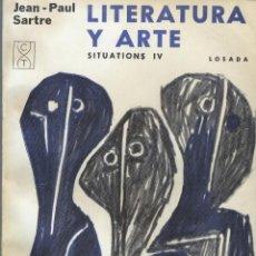 Libros antiguos: ARTE Y LITERATURA DE JEAN-PAUL SRTRE. SITUACIONES IV. Lote 197124366
