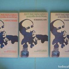 Libros antiguos: ANTONIO MACHADO, ANTOLOGIA DE SU PROSA (3 TOMOS) - SELECCION DE AURORA DE ALBORNOZ - EDICUSA, 1976. Lote 197300785