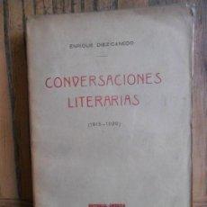 Libros antiguos: CONVERSACIONES LITERARIAS. (1915-1920). ENRIQUE DIEZ-CANEDO. EDITORIAL AMÉRICA. MADRID, 1922. Lote 198691477