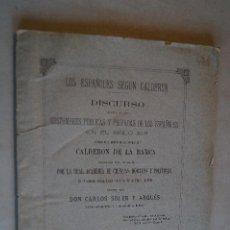 Libros antiguos: LOS ESPAÑOLES SEGÚN CALDERÓN. COSTUMBRES DE LOS ESPAÑOLES EN EL SIGLO XVII. CARLOS SOLER. 1881. Lote 198839821