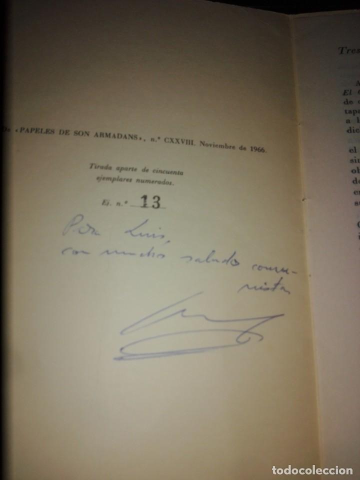 Libros antiguos: luis yrache -- tres alusiones curiosas en el criticon 1966 -- separata numerada 13 de 50 y dedicada - Foto 2 - 199072105
