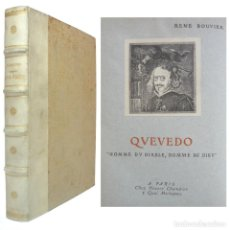 Libros antiguos: 1930 - QUEVEDO, HOMBRE DEL DIABLO, HOMBRE DIOS - SIGLO ORO ESPAÑOL - ENCUADERNACIÓN, PERGAMINO. Lote 199423937