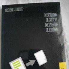 Libros antiguos: DOCUMENTOS DE CULTURA, DOCUMENTOS DE BARBARIE. LA NARRATIVA COMO ACTO SOCIALMENTE SIMBÓLICO JAMESON. Lote 197977813