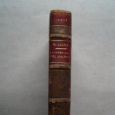 Libros antiguos: LA INVENCIÓN DEL QUIJOTE Y OTROS ENSAYOS. MANUEL AZAÑA. 1934. Lote 201612471
