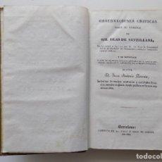 Libros antiguos: LIBRERIA GHOTICA. A. LLORENTE.OBSERVACIONES CRÍTICAS SOBRE EL ROMANCE DE GIL BLAS DE SANTILLANA.1857. Lote 203356541