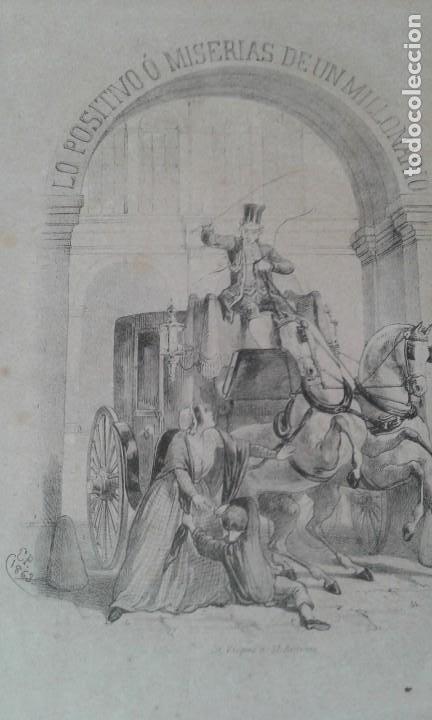 Libros antiguos: LO POSITIVO O MEMORIAS DE UN MILLONARIO 1863 ilustrado - Foto 3 - 203766577