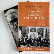 Libros antiguos: LITERATURA ESPAÑOLA CONTEMPORÁNEA (I-II).- G. TORRENTE BALLESTER. Lote 204394633