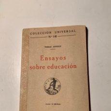 Libros antiguos: ENSAYOS SOBRE EDUCACIÓN. TOMÁS ARNOLD. 1920. Lote 205012926