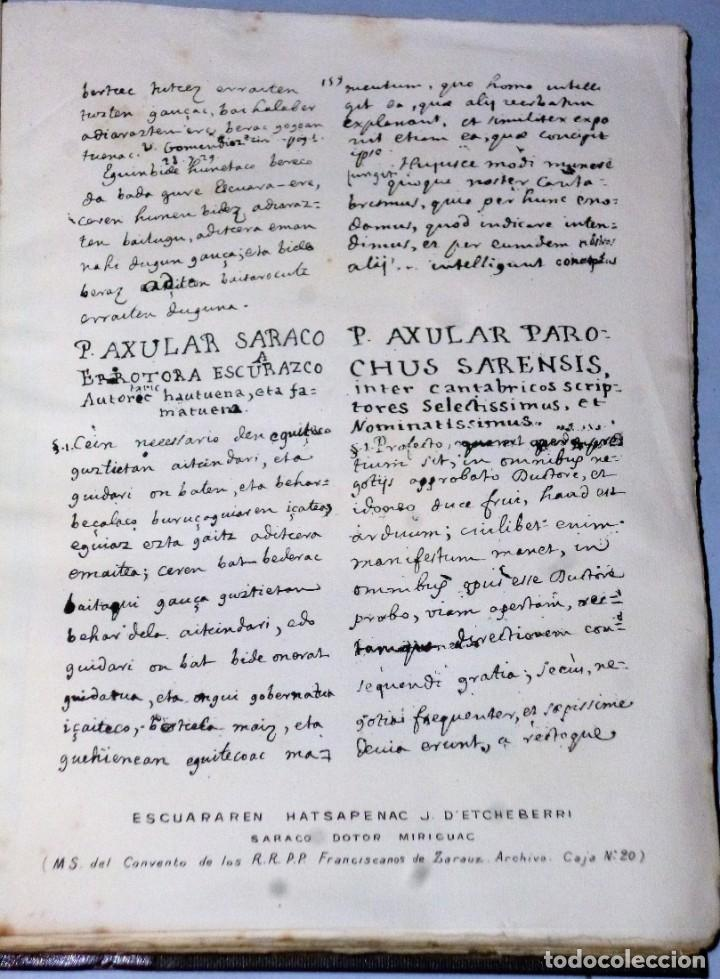 Libros antiguos: OBRAS VASCONGADAS DEL DOCTOR LABORTANO JOANNES D´ ETCHEVERRI (1712) - Foto 4 - 205206331