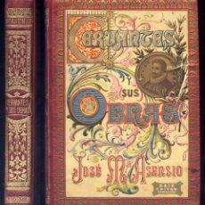 Libri antichi: ASENSIO, JOSÉ Mª. CERVANTES Y SUS OBRAS. ARTÍCULOS. CON UN PRÓLOGO DEL DR. THEBUSSEM. S.A. (1902).. Lote 205684105