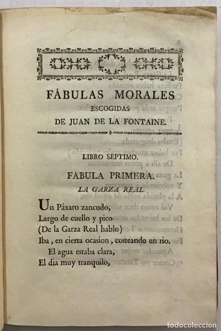 Libros antiguos: FÁULAS MORALES DE... EN VERSO CASTELLANO POR BERNARDO MARÍA DE CALZADA. - FONTAINE, Juan de la. - Foto 3 - 123189391