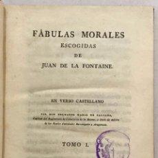 Libros antiguos: FÁULAS MORALES DE... EN VERSO CASTELLANO POR BERNARDO MARÍA DE CALZADA. - FONTAINE, JUAN DE LA.. Lote 123189391