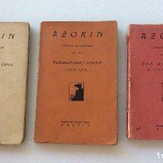 Libros antiguos: AZORIN -EDITORIAL CARO RAGGIO 1921.OBRAS COMPLETAS. TOMOS XIV-XXI Y XXVI. Lote 209125635
