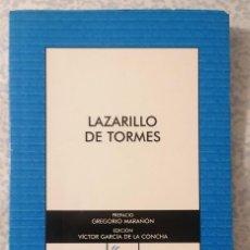 Libros antiguos: LAZARILLO DE TORMES - NOVELA ANÓNIMA -. Lote 216620690