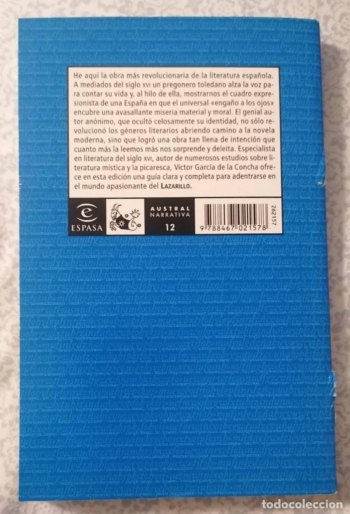 Libros antiguos: LAZARILLO DE TORMES - NOVELA ANÓNIMA - - Foto 2 - 216620690