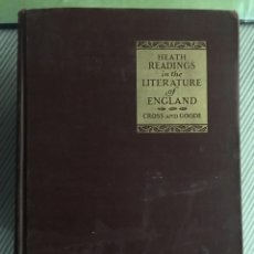 Libros antiguos: HEATH READINGS IN THE LITERATURE OF ENGLAND. Lote 216808682