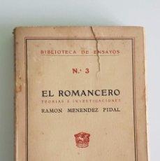 Libros antiguos: 2 EJEMPLARES. EL ROMANCERO (M. PIDAL) Y EL NACIONALISMO EN ARTE (DOMÉNECH). Lote 217198351
