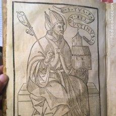 Libros antiguos: POST INCUNABLE MÍSTICA GRABADOS GÓTICO ALONSO DE OROZCO TOLEDO OROPESA OBRAS PRIMERA EDICIÓN 1554. Lote 219321145