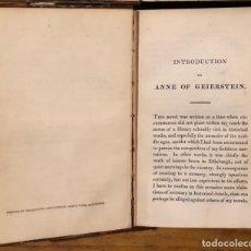 Libros antiguos: WAVERLEY NOVELS 45-ANNE OF GEIERSTEIS-VOL II(20€). Lote 221297960