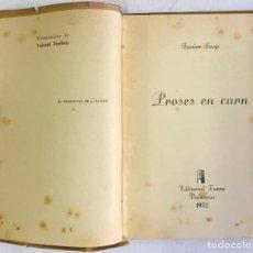 Libros antiguos: PROSES EN CARN. - CASP, XAVIER.. Lote 123173060