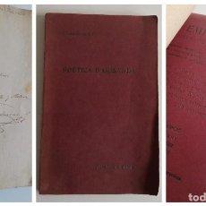 Libros antiguos: POÈTICA D'ARISTOTIL ( CON DEDICATORIA Y FIRMA DEL AUTOR IGNASI CASANOVAS, 1907.). Lote 221783308