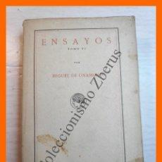 Libros antiguos: ENSAYOS. TOMO VI - MIGUEL DE UNAMUNO. Lote 222548381
