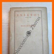 Libros antiguos: ENSAYOS. TOMO VII - MIGUEL DE UNAMUNO. Lote 222548725