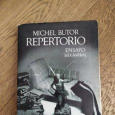 Libros antiguos: REPERTORIO. SOBRE LITERATURA III. ENSAYOS Y CONFERENCIAS. MICHEL BUTOR.. Lote 222837077