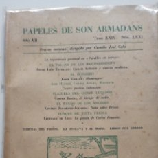 Libros antiguos: PAPELES DE SON ARMADANS - AÑO VII - 1962 - NUM. LXXI, LXXII, LXXIV, LXXVIII REVISTA DIRIGIDA POR C. Lote 223580021