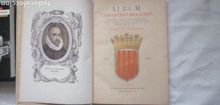 Libros antiguos: Album Cervantino Aragonés. Duquesa de Villahermosa. Zaragoza 1905 Viuda é hijos de M. Tello In folio - Foto 2 - 224140911