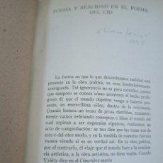 Libros antiguos: POESIA Y REALIDAD EN EL POEMA DEL CID. AMERICO CASTRO. REVISTA TIIERRA FIRME. AÑO 1935. Lote 227170730
