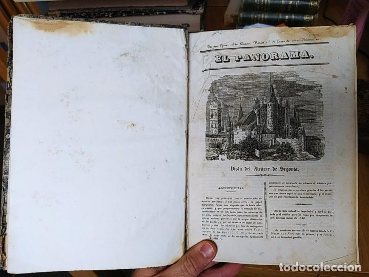 Libros antiguos: Revistas literarias El Panorama. Números de enero a septiembre de 1841. RARO - Foto 2 - 229661735