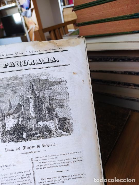 Libros antiguos: Revistas literarias El Panorama. Números de enero a septiembre de 1841. RARO - Foto 3 - 229661735