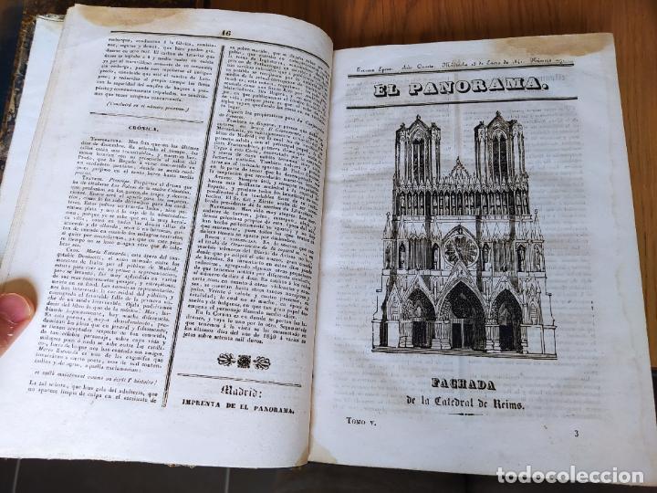 Libros antiguos: Revistas literarias El Panorama. Números de enero a septiembre de 1841. RARO - Foto 10 - 229661735