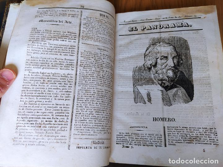 Libros antiguos: Revistas literarias El Panorama. Números de enero a septiembre de 1841. RARO - Foto 11 - 229661735