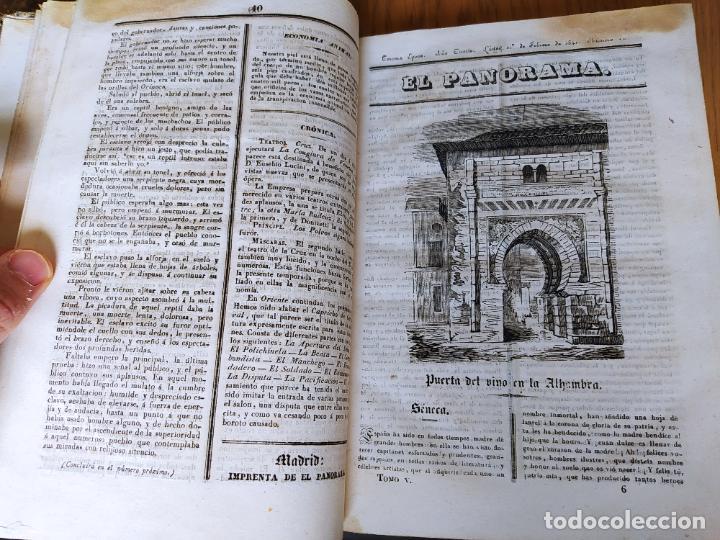 Libros antiguos: Revistas literarias El Panorama. Números de enero a septiembre de 1841. RARO - Foto 12 - 229661735