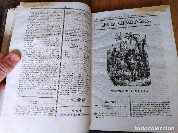 Libros antiguos: Revistas literarias El Panorama. Números de enero a septiembre de 1841. RARO - Foto 13 - 229661735