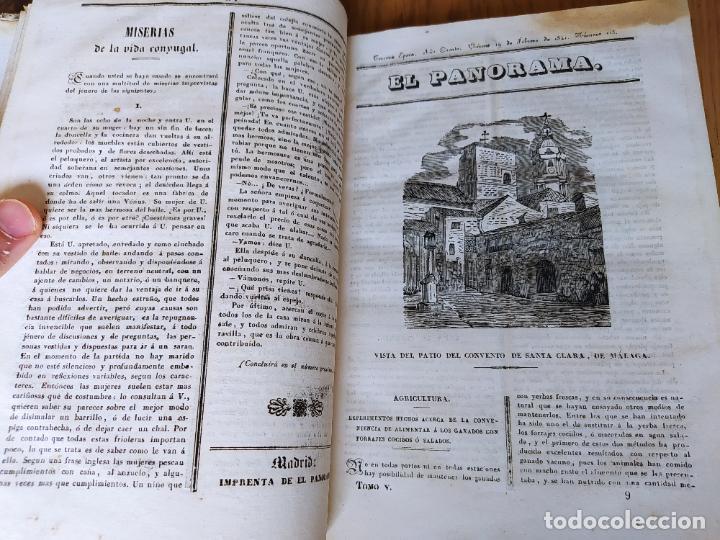 Libros antiguos: Revistas literarias El Panorama. Números de enero a septiembre de 1841. RARO - Foto 14 - 229661735
